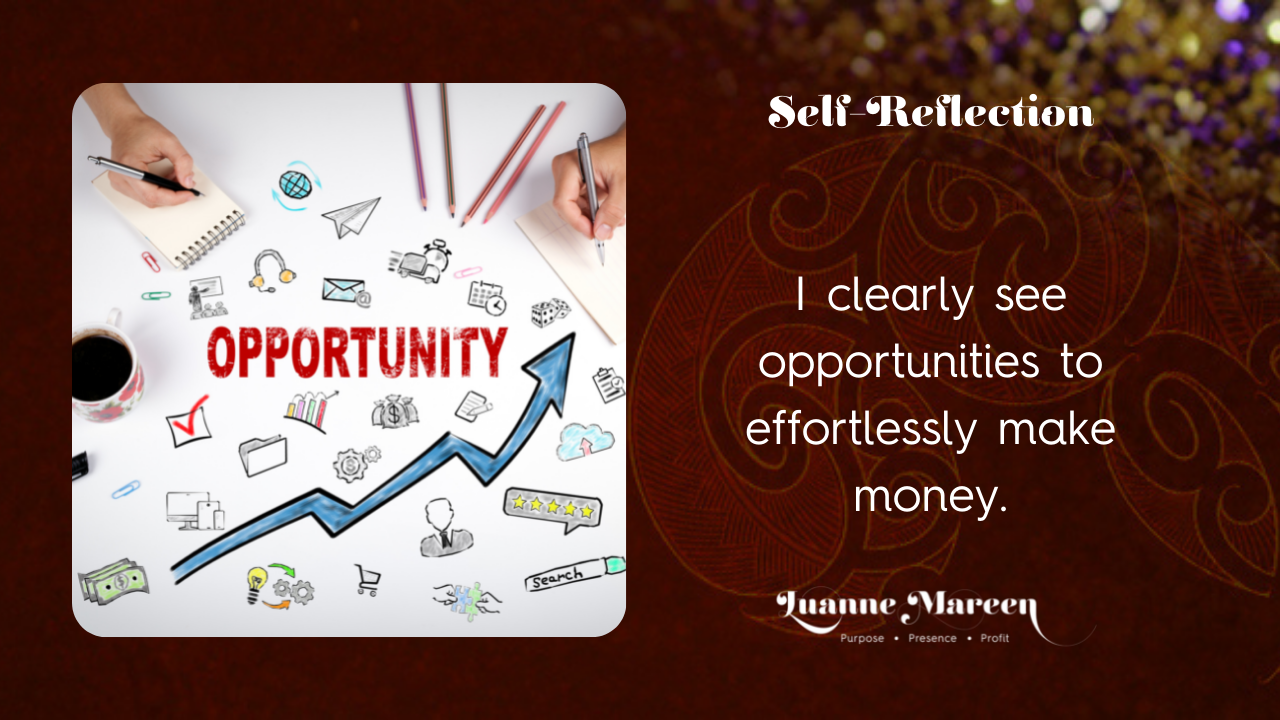 Read more about the article Self-Reflections: I clearly see opportunities to effortlessly make money.