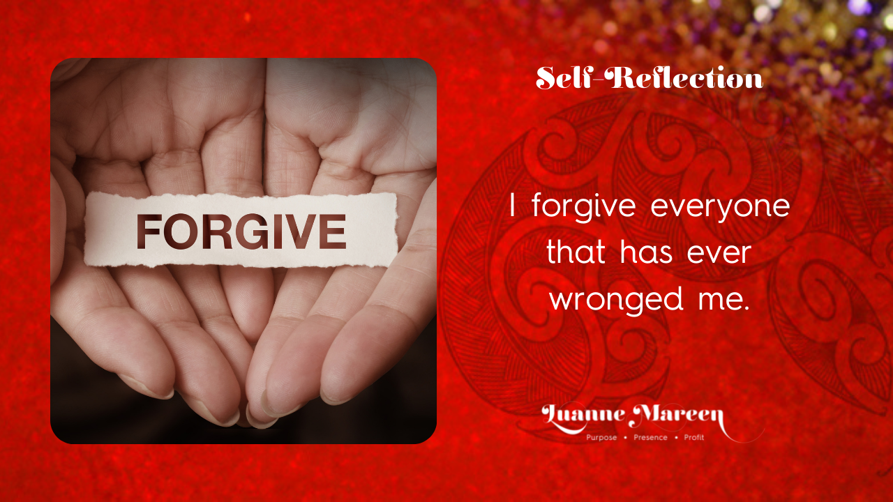 Read more about the article Self-Reflections: I forgive everyone that has ever wronged me.